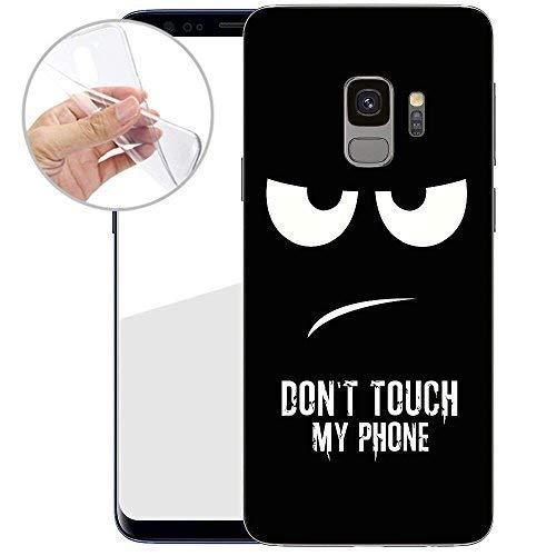 TPU Handyhülle für Dein Samsung Galaxy S9 von finoo Made In Germany Hülle mit Motiv für Optimalen Schutz Silikon Tasche Case Cover Schutzhülle für Dein Samsung Galaxy S9-Don\'t Touch My Phone
