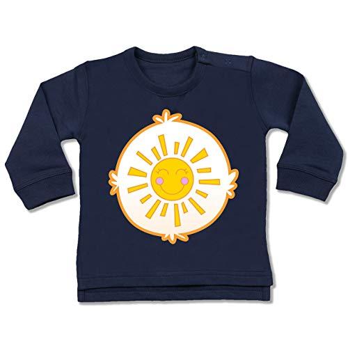 (Karneval und Fasching Baby - Cartoon-Bärchis Sonne - 18-24 Monate - Navy Blau - BZ31 - Baby Pullover)