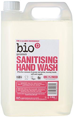 Bio-D Geranium Sanitising Hand Wash, 5 litre