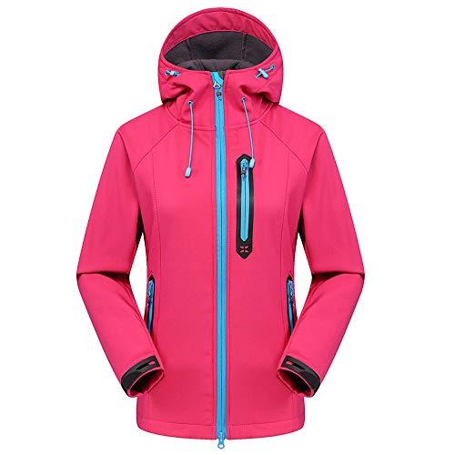 Luckycat Softshell Pullover für Damen ist einschichtig wasserdicht und atmungsaktiv Jacken Mäntel Sweatjacke Winterjacke Fleecejacke Steppjacke