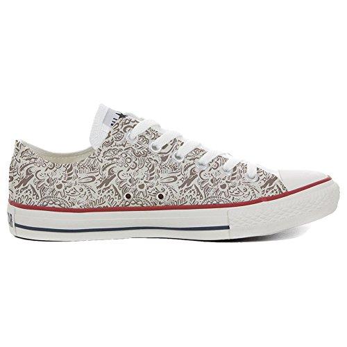 Converse PERSONALIZZATE All Star Hi Canvas, Sneaker Uomo/Donna (Prodotto Artigianale) Damask Paisley size 37 EU