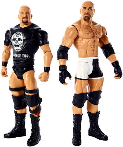 WWE GBN62 - 15 cm Basis Figuren 2er-Pack Goldberg und Stone Cold Steve Austin