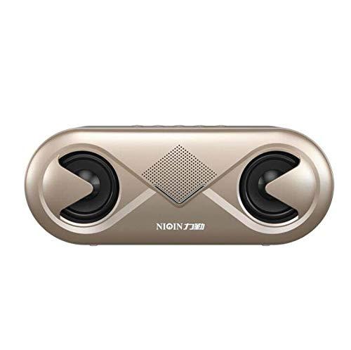 CE-LXYYD S6 Tragbare drahtlose Bluetooth-Lautsprecher 8H Playtime, 6W Bass Sound, Stereo Pairing, langlebige Design Hinterhof, im Freien, Reisen, Pool, Home Party,Gold
