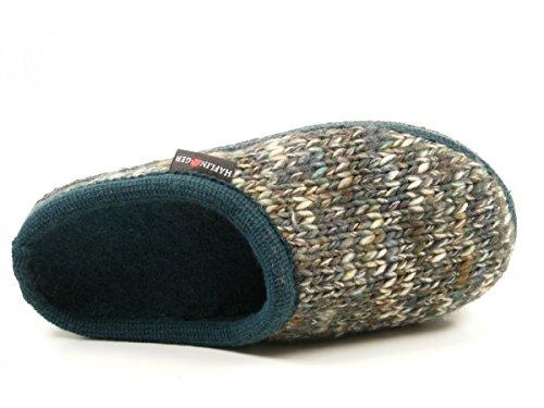 Haflinger 611086 Walktoffel Uni Pantofole Unisex Adulto Grün