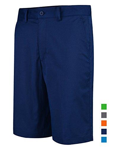 Homme Short Golf Chino Coton Stretch Ete Pantalon Bermudas Slim Travail Taille 32'' Taille 88cm Bleu Marin