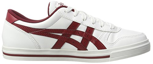 Asics Aaron, Sneakers Basses Mixte Adulte Blanc (White/Burgundy)