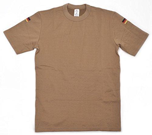 Original Tropenausführung T-Shirt der Deutschen Bundeswehr Unterziehhemd Unterhemd Khaki in verschiedenen Größen mit oder ohne Klettstreifen (8/XXL, Ohne Klettstreifen)