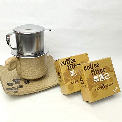 LTLWHS Kaffeefilter, Edelstahl-Tropffilterbecher 200 Ml, Mit Filterpapier