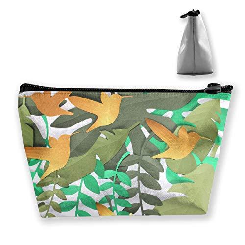 Birds Palm Womens Reise-Kosmetiktasche Portable Toiletry Brush Storage ()
