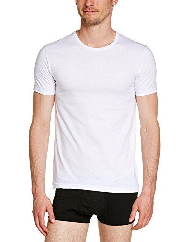 Rochas Herren Unterhemd, Uni Weiß - Weiß