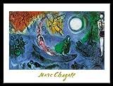 Marc Chagall Il concerto Poster Kunstdruck Bild im Alu Rahmen in schwarz 60x80cm