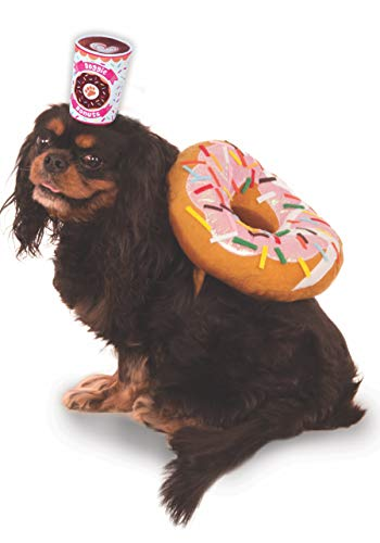 Kostüm Kinder Donut - Rubies Costume Company Hundeanzug Donut und Kaffeebraun, Small, Mehrfarbig