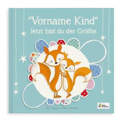 YourSurprise Personalisiertes Kinderbuch: Jetzt bist du der Größte, Kinderbuch mit Namen PERSONALISIERBAR, Hardcover