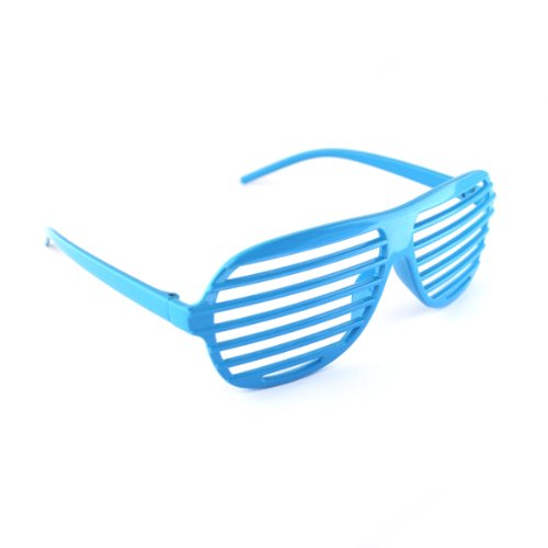 Hellblau / Light Blue Neuheit-Shutter Shades Sonnenbrille