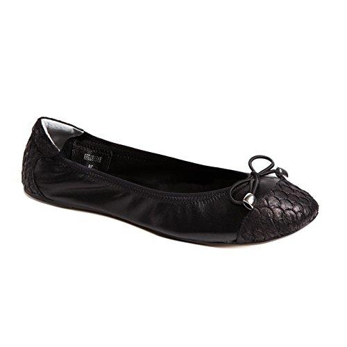Cocorose London Scarpe Pieghevoli - Bayswater Scarpe da Ballet Donna Nero