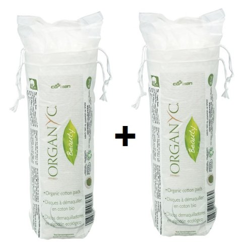 Organyc Lot de coton biodégradable emballage 2 x 70 ST. Lot de 2