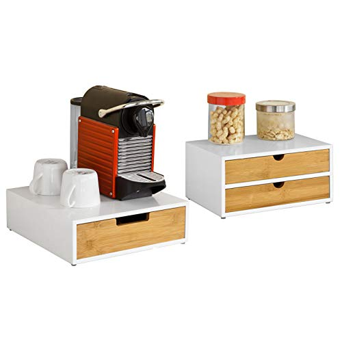 Sobuy 2 x porta capsule caffè, porta per macchina da caffè,supporto per monitor, frg179+frg180-wn