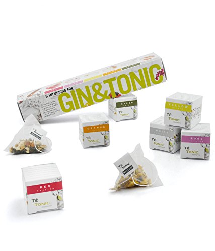 Té Tonic - Especias Gin Tonic naturales. Gin & Tonic selección 6 infusiones variadas para aromatizar tu cóctel
