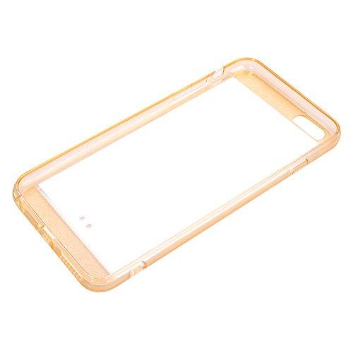 "MOONCASE Slim Silicone Case Gel TPU Housse Coque Etui Cover pour Apple iPhone 6 Plus ( 5.5"" ) Bleu Doré"