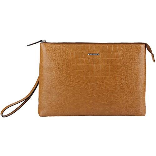 Banuce Herren Handtasche aus echtem Leder, 2-Wege-Verwendung,