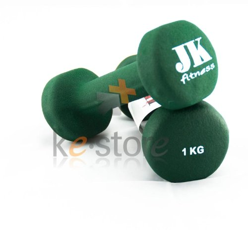 Manubrio neoprene kg 1 jk fitness Verde
