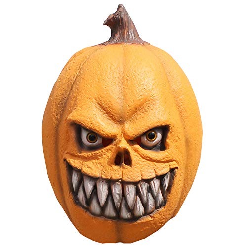 Halloween Latex Kürbis Make-up Maske Horror Ball Karneval Party Lustige Maske,Yellow-OneSize