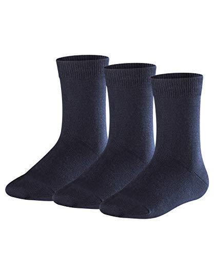 FALKE Jungen Socken Family, 3er Pack, darkmarine, 39-42