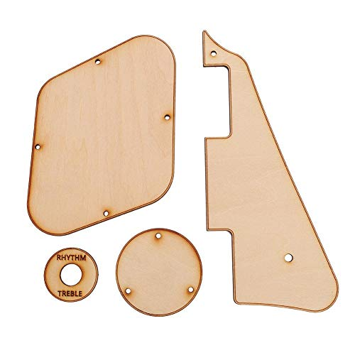 Tbest Maple Wood LP Cream Pickguard für Gitarre & Steuerung Cavity Cover & Switch Cavity Cover & Switch Ring Pickup-Auswahlplatte für LP Style Guitar Replacement