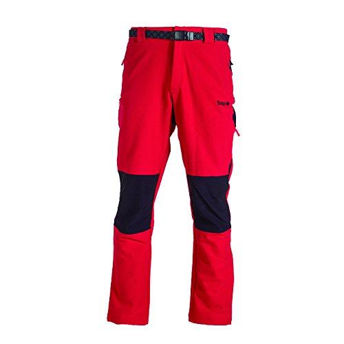 Izas chamonix stretch pant, uomo, rosso nero, m