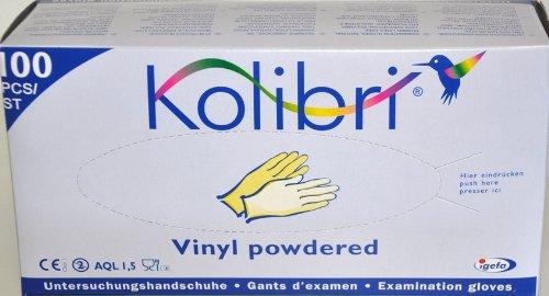 Kolibri Vinyl puderfrei Grösse L, Untersuchungshandschuh transparent 100 Stück