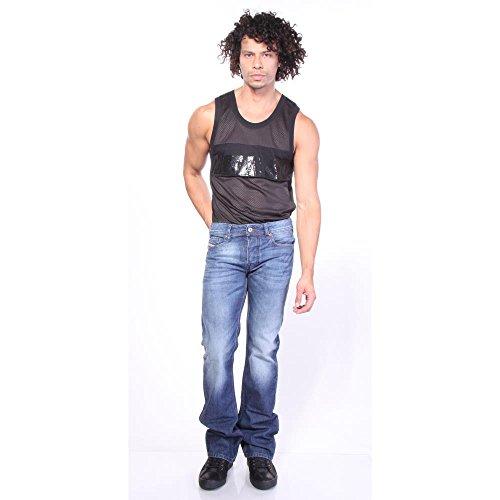 Diesel - Herren Zatiny Schlank Bootcut Jeans Denim Blue Medium