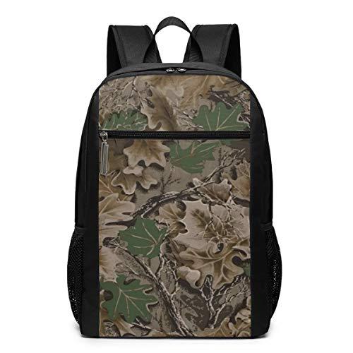 GgDupp Realtree Camo Wallpapers Schulranzen Reiserucksack 17 Zoll Laptop Tasche, Polyester, Schwarz, Einheitsgröße -