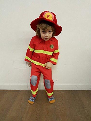 Costume di carnevale piccolo pompiere bambino (2 - 3 anni)