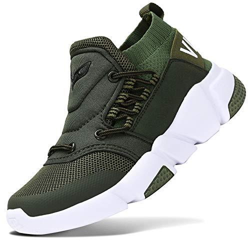 Sneakers Bambini Ragazzi Scarpe da Corsa Ragazze Trainer Ragazzi Scarpe Sportive Scarpe da Ginnastica all'aperto Scarpe da Interno Unisex(Verde 36EU)