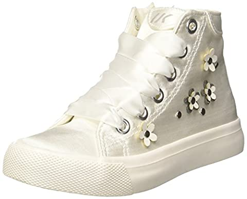 Lumberjack Mädchen Phillie Hohe Sneaker, Bianco, 33 EU