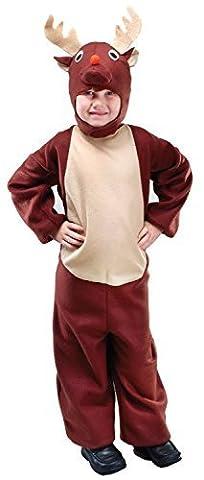 Kleinkinder Mädchen Jungen Weihnachten braun Rentier Tier Halloween Kostüm Kleid Outfit 2-3 J - Braun, 7-9 (Bestes Halloween-kostüme Für Kleinkinder)