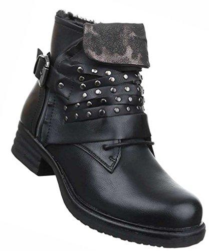 Senhoras Botas Sapatos Alinhados Com Rebites Stiefeletten Preto Bege Cinzento Vermelho 36 37 38 39 40 41