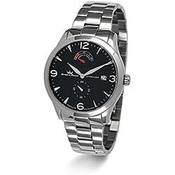 Yonger & Bresson - YBH 8344-01 M - De Vigny - Montre Homme - Automatique Analogique - Cadran Noir - Bracelet Acier Argent