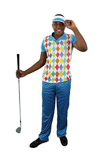 NER Golf KOSTÜM VERKLEIDUNG= 4 Verschiedene GRÖSSEN=3 TEILIG =100% Polyester=Fasching Karneval Spass =XLarge ()