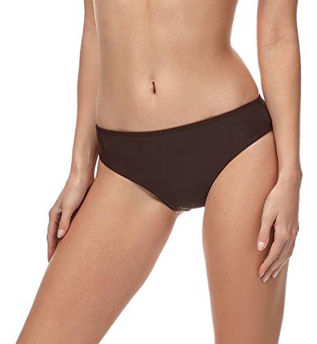 Merry Style Damen Bikini Slip MSVR1 (Braun(8157), 44)