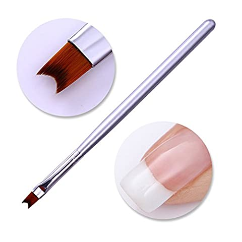 Born Pretty Nail Art Brush UV Gel Acrylic French Moon Shape Design Painting Drawing Pen Manicure DIY Design Tool