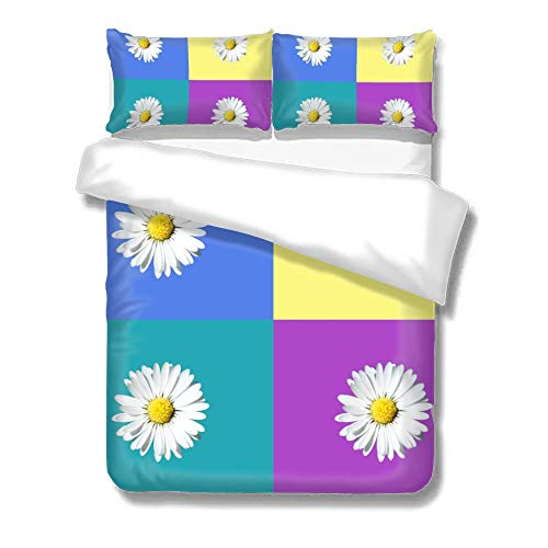 St574ony Duvet Cover Set Cotton Quilt Bedding Set Set of Three On The Bed Daisy -