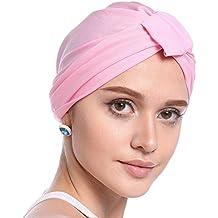 Biback Pañuelo la cabeza Turbante Mujer apagado tapa para quimio, pérdida de pelo, Color