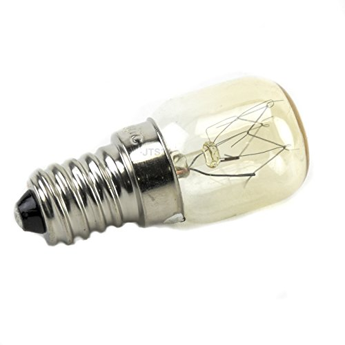 DeClean Herd Backofen Lampe Birne E 14 bis 300° Grad C 15 Watt 25mm Durchmesser - Backofen-lampen