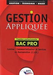 Gestion appliquée Bac Pro 1re professionnelle