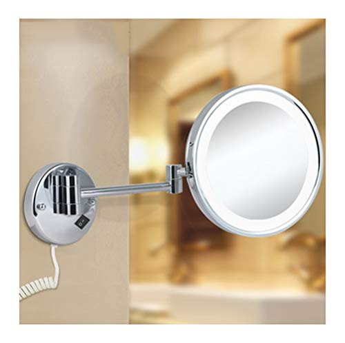 BEI-YI - Espejo Maquillaje Espejo de Maquillaje - Espejo de Maquillaje casero Lámpara retráctil de Moda Espejo de Maquillaje Plegable LED Espejo de Maquillaje Colgante de Pared Durable