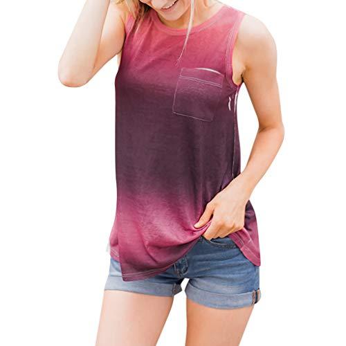DEELIN Damen Streifen T-Shirt mit Kapuze ärmellosen Elegant Casual Tops Bluse (XL, Y-B-Wein) - Baby Gap Hoodie