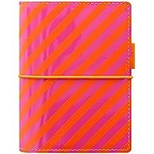 Filofax Pocket Domino Patent Orange/rose Rayures Organiseur
