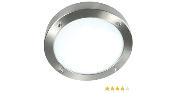 Plafoniere Per Esterno Led Ranex : Ranex lampada per il bagno a soffitto acciaio vetro