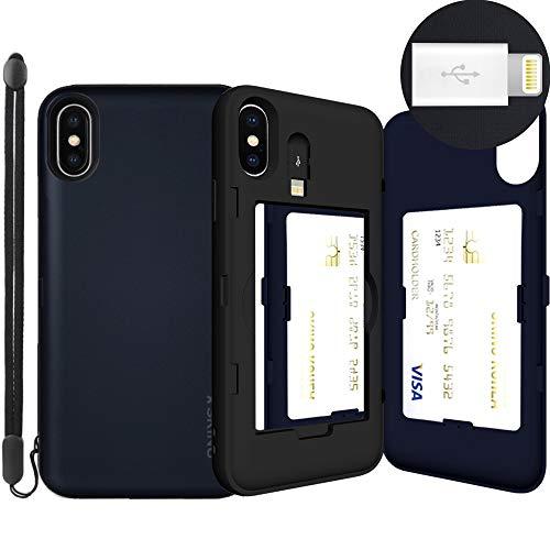 Eureka iPhone XS 8-Pin, Metall/Schieferfarben -